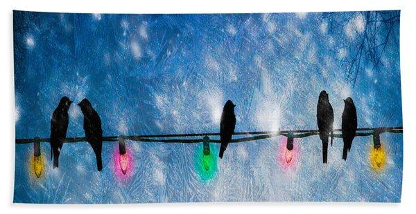 Christmas Lights Hand Towel