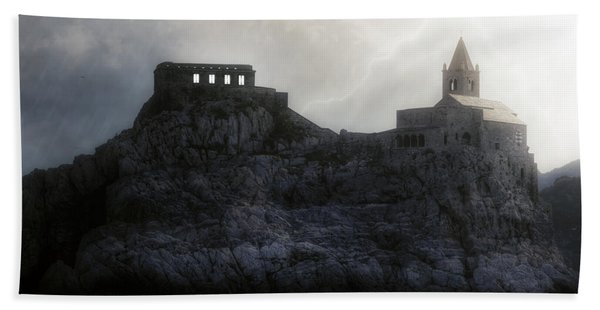 Church In Storm Hand Towel