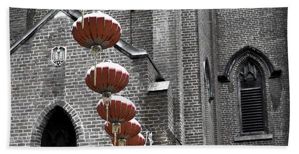 Church Lanterns Hand Towel