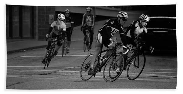 City Street Cycling Bath Towel
