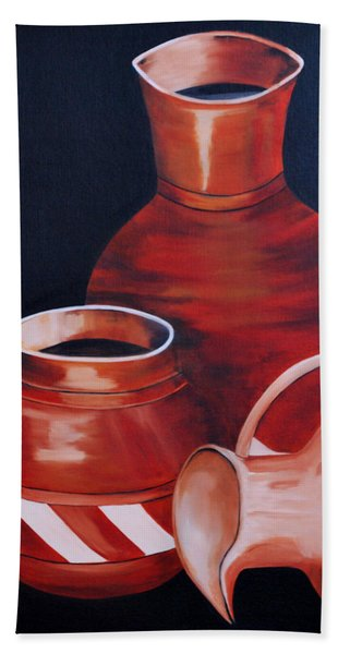 Clay Pots Bath Towel