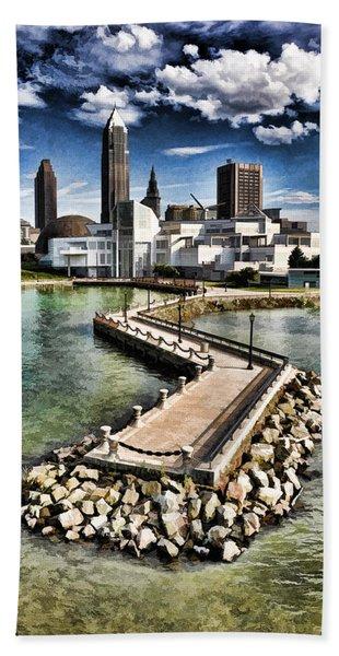 Cleveland Inner Harbor - Cleveland Ohio - 1 Bath Towel