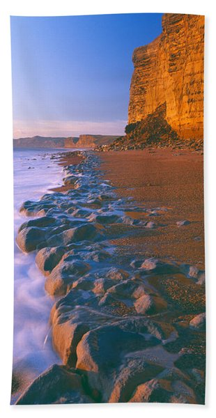 Cliff On The Beach, Burton Bradstock Hand Towel