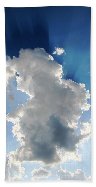 Clouds In The Sun Bath Towel