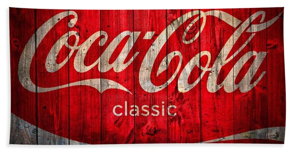 Coca Cola Barn Bath Towel