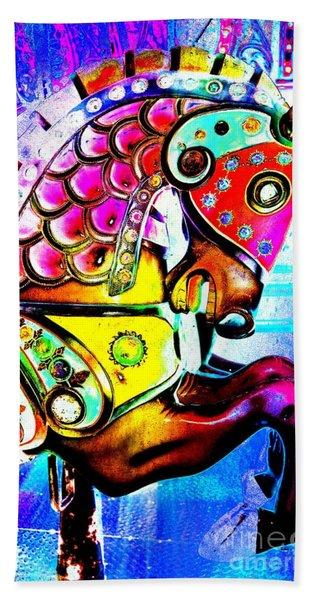 Color Explosion Carrousel Horse Hand Towel
