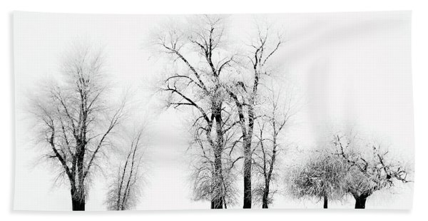 Frosted Trees 2 Hand Towel