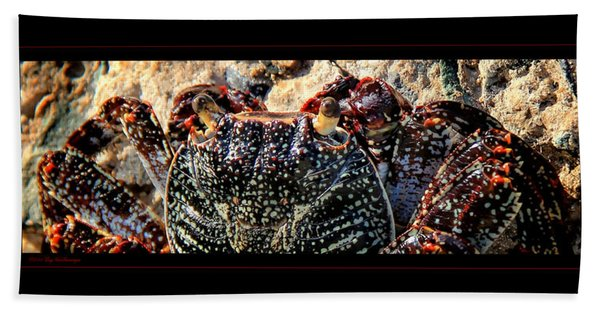 Colorful Crab Bath Towel
