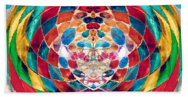 Colorful Mosaic Hand Towel