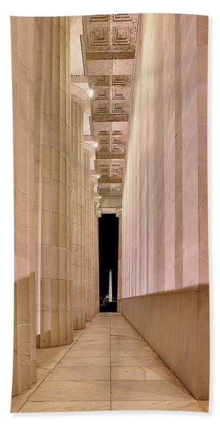 Columns And Monuments Bath Towel