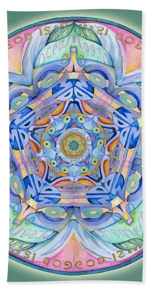 Compassion Mandala Hand Towel