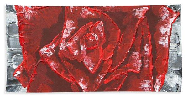 Concrete Rose  Hand Towel