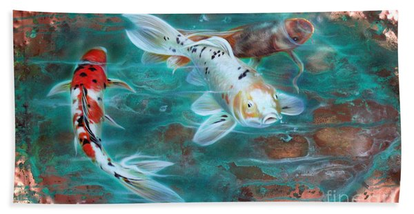 Copper Koi Hand Towel