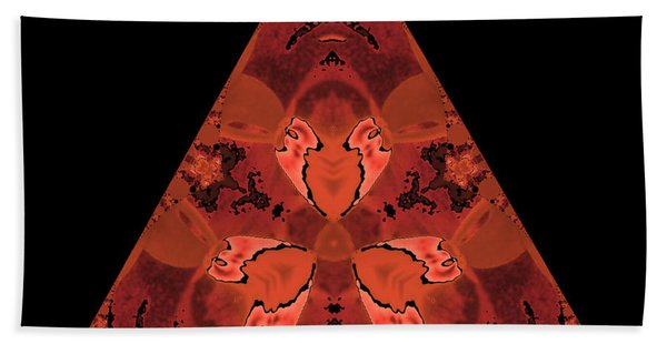Copper Triangle Abstract Hand Towel
