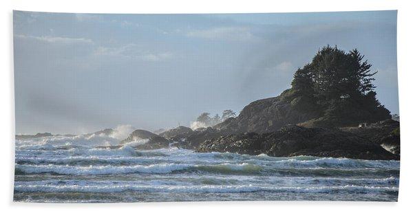 Cox Bay Afternoon Waves Bath Towel