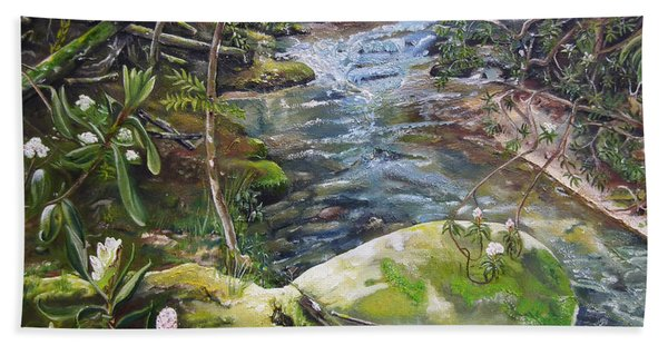 Creek -  Beyond The Rock - Mountaintown Creek  Hand Towel
