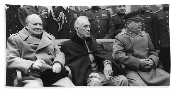 Crimean Conference In Yalta Bath Towel