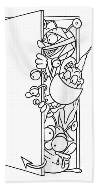Curious Monster Hand Towel