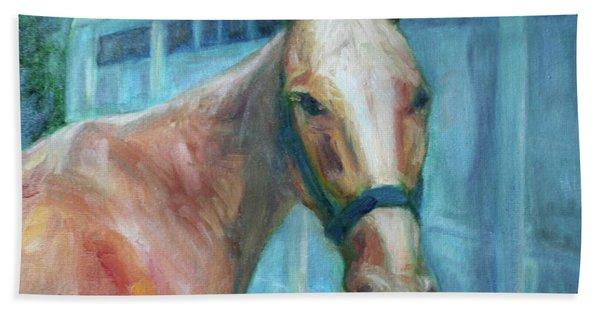 Custom Pet Portrait Painting - Original Artwork -  Horse - Dog - Cat - Bird Hand Towel