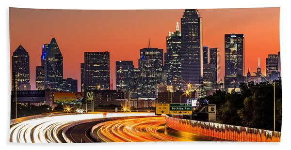 Hand Towel featuring the photograph Dallas Sunrise by Mihai Andritoiu