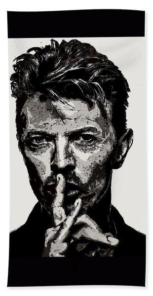 David Bowie - Pencil Bath Towel