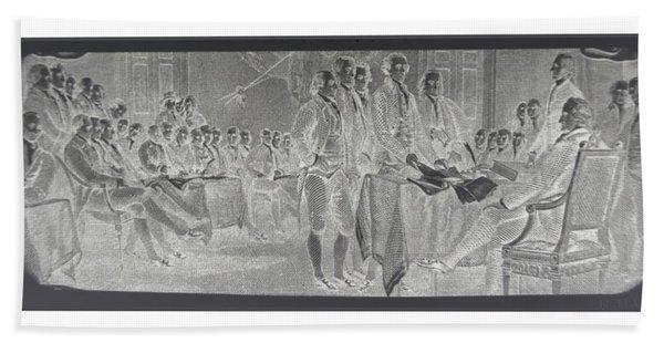 Declaration Of Independence In Negative Bath Towel