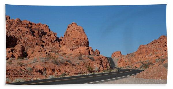 Desert Rock Formations Hand Towel