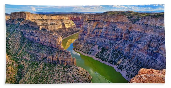 Bath Towel featuring the photograph Devil's Canyon Overlook by Greg Norrell