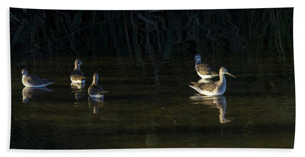 Digital Oil Of Sandpipers Hand Towel
