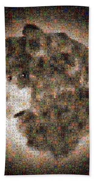 Dire Wolf Mosaic Hand Towel