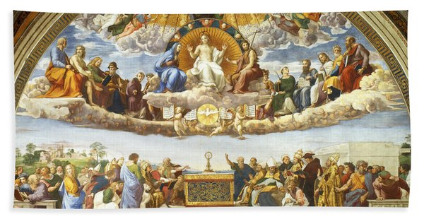 Disputation Of Holy Sacrament. Bath Towel