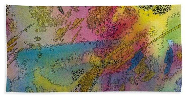 Doodle With Color Bath Towel