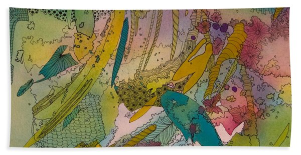 Doodles With Abstraction Bath Towel