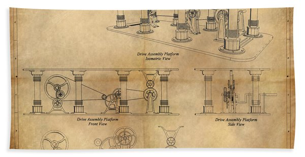 Drive Assembly Platform Hand Towel
