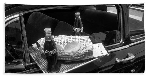 Drive-in Coke And Burgers Bath Towel