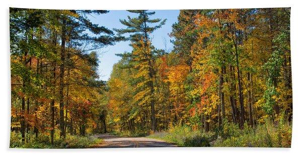 Drive Through Splendor In Minnesota Hand Towel