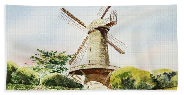 Dutch Windmill In San Francisco  Hand Towel