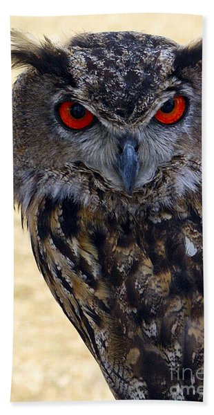 Eagle Owl Bath Towel