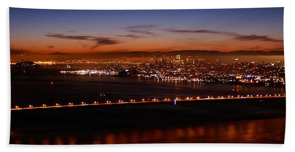 Early December Morning Pano Hand Towel