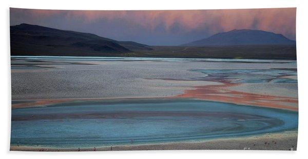 Laguna Colorada - Early Morning Pink Hand Towel