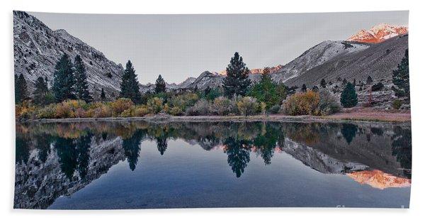 Eastern Sierras Reflection Bath Towel
