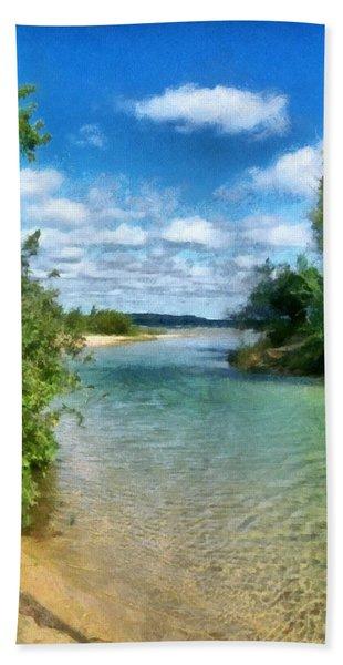 Elk River- Elk Rapids Michigan Bath Towel