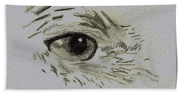 Eye - A Pencil Drawing By Marissa Hand Towel