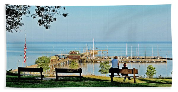 Fairhope Alabama Pier Bath Towel