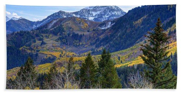 Fall At Cascade Peak And Sundance From Alpine Loop  Hand Towel