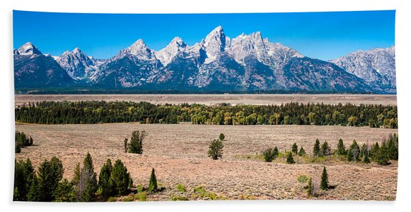 Fall Tetons   Bath Towel