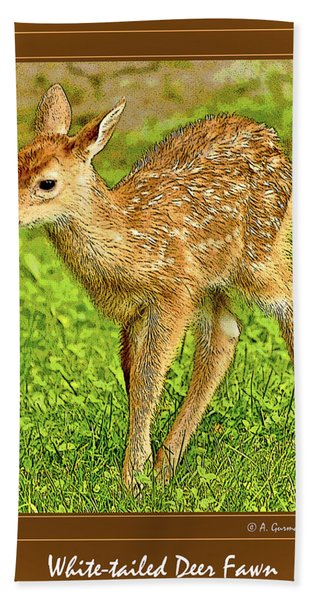 Fawn Poster Image Bath Towel