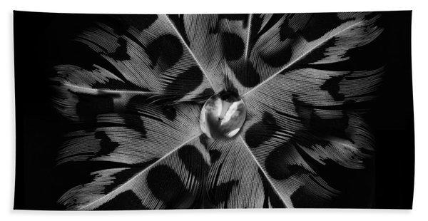 Feather Flower Bath Towel
