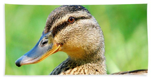 Female Mallard Duck Hand Towel