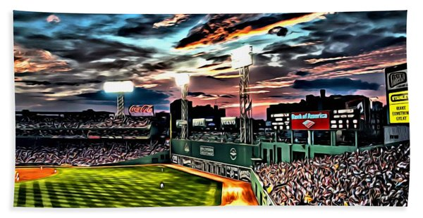 Fenway Park At Sunset Hand Towel